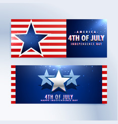 American independence day banners vector