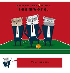 Business Idea series Teamwork vector image