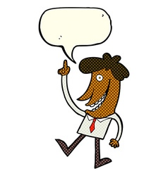 Cartoon man with idea with speech bubble vector