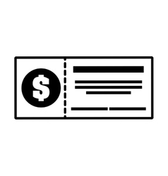 Check bank isolated icon vector