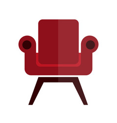 comfortable soft and stylish red armchair vector image