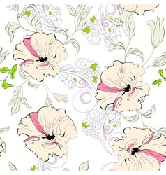 decorative seamless walpaper vector image