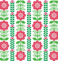 Finnish inspired seamless folk art pattern vector