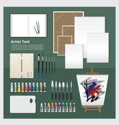 Flat design artist tool vector