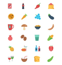 Food flat icons 3 vector
