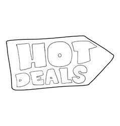 Hot deals direction sign icon outline style vector