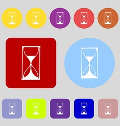Hourglass sign icon sand timer symbol 12 colored vector