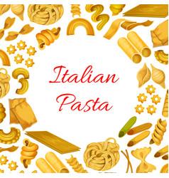 Italian pasta macaroni spaghetti poster vector