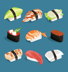 Japanese classical food vector