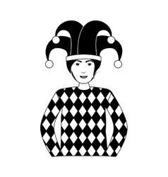 Jocker casino icon vector