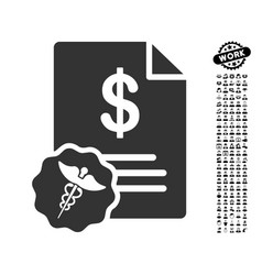 Medical prices icon with professional bonus vector