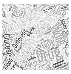 Medications that treat diabetes word cloud concept vector