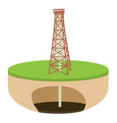 Oil derrick icon cartoon style vector