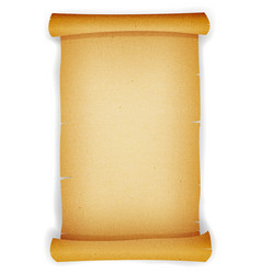 old textured parchment scroll vector image