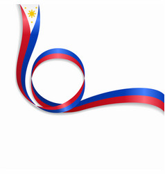 Philippines wavy flag background vector
