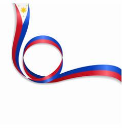 Philippines wavy flag background vector