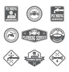 Plumbing service badges vector