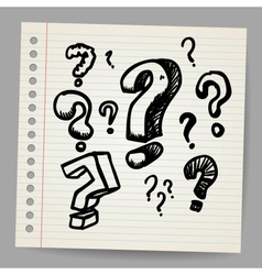 Scribble question marks vector image