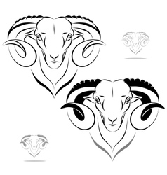 stylized ram head vector image