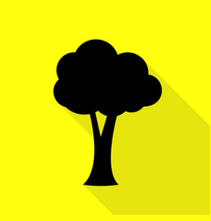 Tree sign black icon with flat style vector