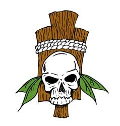 TribalSkull vector image