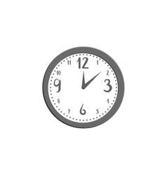 Wall clock icon black monochrome style vector