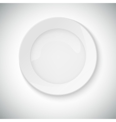 White plate with shadow vector