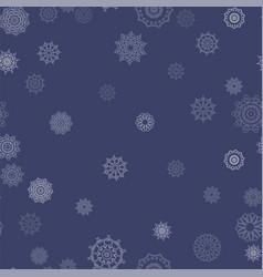 winter seamless snowflake pattern vector image