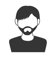 Man guy boy beard person face head icon vector