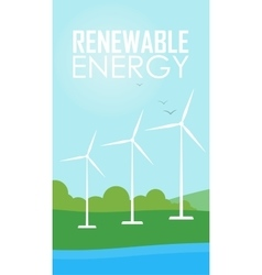 Renewable energy wind generator turbines vector