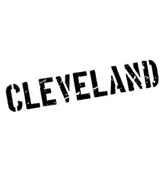 Cleveland rubber stamp vector image