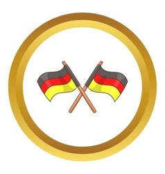 Two crossed flags of Germany icon vector image