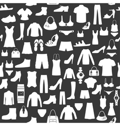 Seamless background with clothing vector