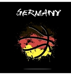 Flag of Germany as an abstract basketball ball vector image