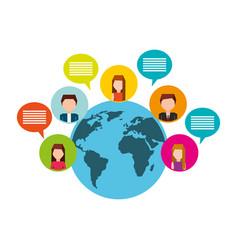 social media network icons vector image
