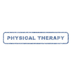 Physical therapy textile stamp vector
