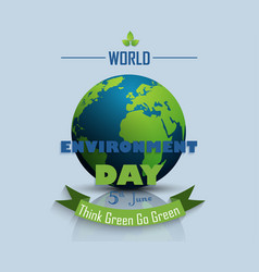 World environment day background with globe vector