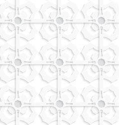 White geometric ornament layered seamless vector