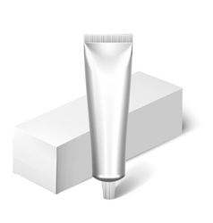 Blank cosmetics packages tube template vector