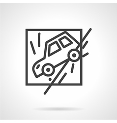 Insurance occasions line icon vector