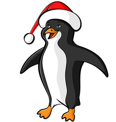Penguin cap color vector