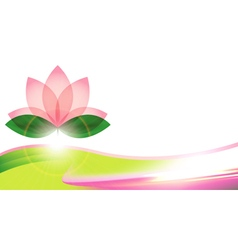Lotus blossom background or card vector