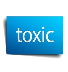 Toxic blue paper sign isolated on white vector