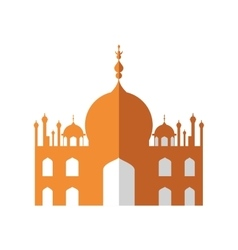 Temple icon indian architecture design vector