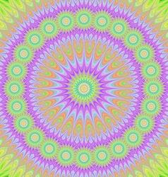 Abstract oriental mandala fractal design vector image vector image