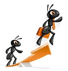 Ant Jump Up vector image vector image