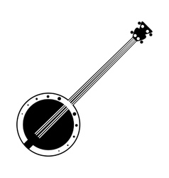 Banjo black icon vector