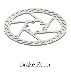 Brake rotor icon isometric 3d style vector