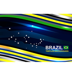 Brazil flag color template design vector