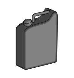 Canister for gasolineoil single icon in vector